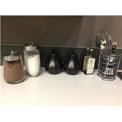 Lot of Decor - 7 items, cannisters, utensils, etc.