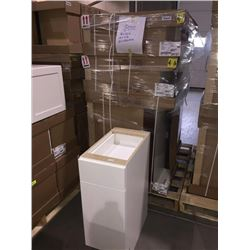 LOT of 7 NEW in boxes, white Vanity Base cabinets assorted sizes.