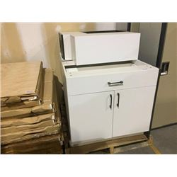 Lot of NEW espresso and white cabinets