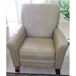 "Tan Leather La-Z-Boy Arm Chair Recliner 35"" W x 31"" D"