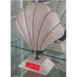 """Clam Shell Accent Décor, Approx. 7"""" Base, 14"""" H"""