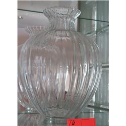 "Large Glass Vase 14"" Tall"