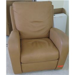 Light Brown Leather Armchair 32W x 32D x 37.5H