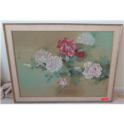 Framed Canvas, Signed David Lee Painting, 45 x 35