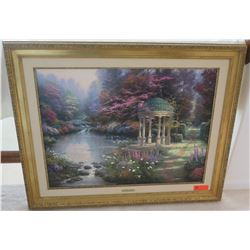 """The Garden of Prayer"" by Thomas Kinkade, 43.5 x 35, Ltd. Ed Lithograph 525/600 w/ COA"