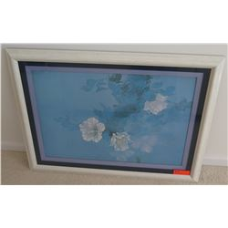 Framed Art - White Hibiscus 37 x 27