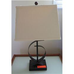 Pair: Metal Sculptural Table Lamps, Approx. 24 H