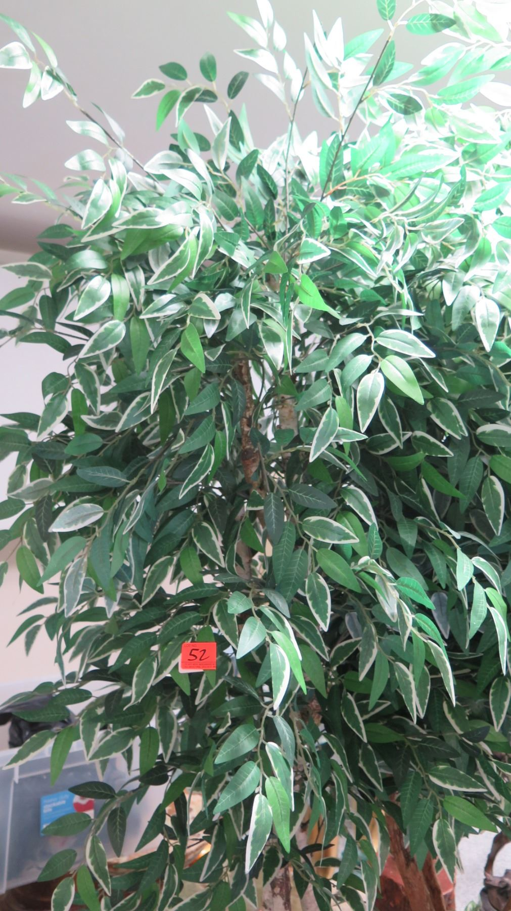 Tall Potted Faux Ficus Tree, Approx. 7' H - Oahu Auctions