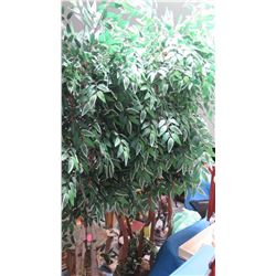 Tall Potted Faux Ficus Tree, Approx. 7' H