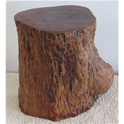 "Natural Wood Stand Approx 9"" Dia, 12""H"