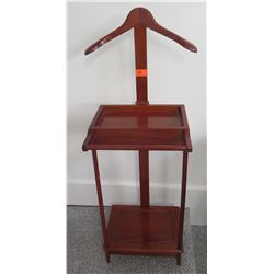 "Valet Stand w/Polished Cherry Finish 14.5 x 13 x 46""H"