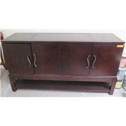 Dark Wood Sideboard 66 x 19 x 36H