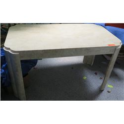 Rectangular Table w/Composite Stone-Like Veneer 52 x 28 x 29.5H