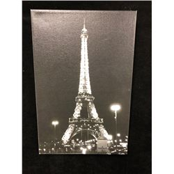 "EIFFEL TOWER ""PARIS"" CANVAS WALL ART PRINT (12"" X 8"")"