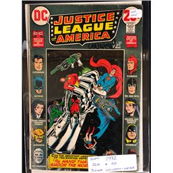 1972 JUSTICE LEAGUE OF AMERICA #101 SIGNED BY WRITER LEN WEIN