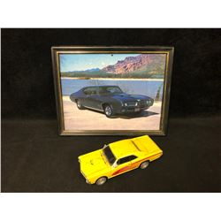 1966 PONTIAC GTG TOY CAR W/ FRAMED PHOTO