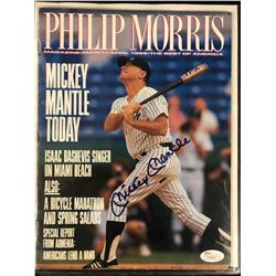 MICKEY MANTLE SIGNED PHILLIP MORRIS MAGAZINE (JSA LOA)