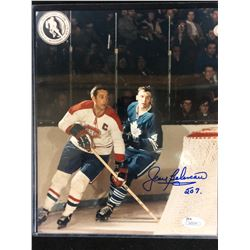 "JEAN BELIVEAU AUTOGRAPHED 8"" X 10"" COLOR PHOTO (JSA COA)"