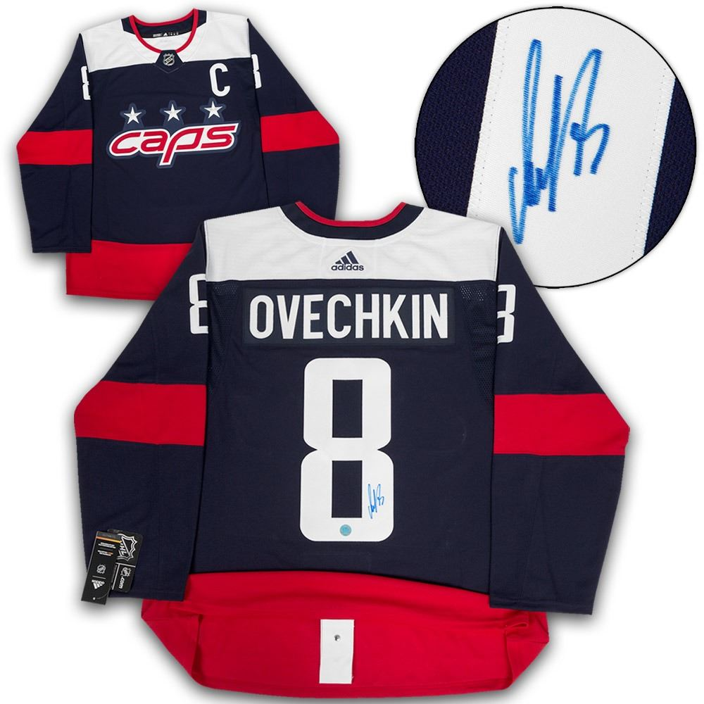 the best attitude d5205 841ff Alex Ovechkin Washington Capitals Autographed 2018 Stadium Series Adidas  Authentic Jersey