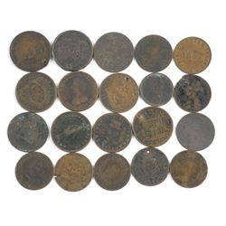 Lot (20) Tokens/Cents (Estate) 1800s