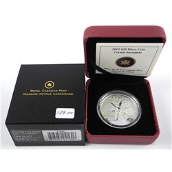 2012 .9999 Fine Silver $20.00 Snowflake Coin with