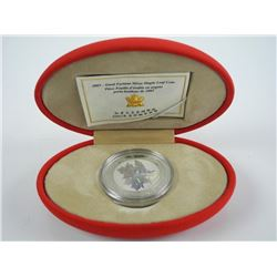 2003 .9999 Fine Silver Maple Leaf Coin, Hologram,