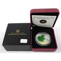 .9999 Fine Silver $20.00 Coin Maple Leaf with Crys