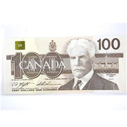 Bank of Canada 1988 - One Hundred Dollar Note. UNC