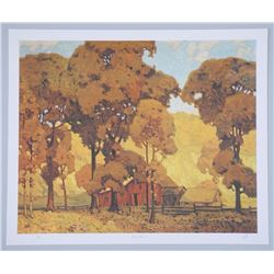 A.J. Casson (1898-1992) Litho 'Autumn Afternoon' 2
