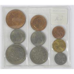 1953 Great Britain Mint Set. KM # MS101 - Excellen