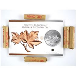 Lot (5) Canada Original Rolls Pennies and .9999 Fi