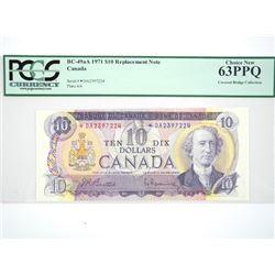 Bank of Canada - 1971 Ten Dollar Note * replacemen