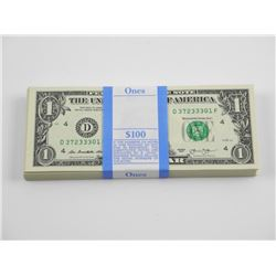 Brick (100) USA 1.00. Federal Reserve Notes. Serie