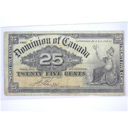 Dominion of Canada 1900 - 25 Cents. 1 Signature