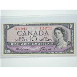 Bank of Canada 1954 - Ten Dollar Note. (VF) Devil'