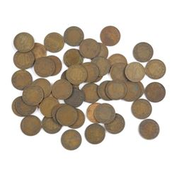 Lot (40) CAN Large 1 Cent - Mostly King George
