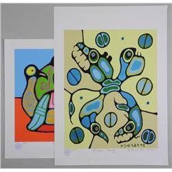 Lot (2) Norval Morrisseau (1931-2007) Lithos - Rar