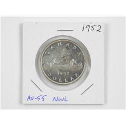 1952 CAD Silver Dollar (AU55) (NWL) (OR)