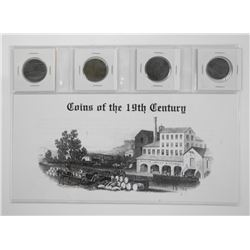 Lot (4) Coins of The 19th Century