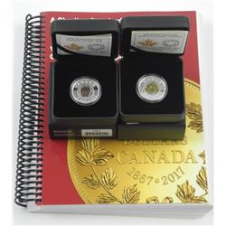 Lot (2) .9999 Fine Silver $20.00 Coins 'Flowers in