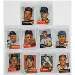Lot (10) Topps Baseball Archives, 1953 Series 'Rep