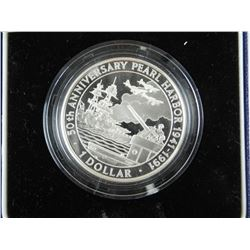 1991 Soloman Islands 1.00 Silver Proof Coin (CR)