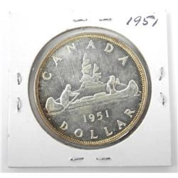 (LUN 17) 1951 CAD Silver Dollar. FWL (IE)