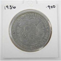 1936 .900 Silver Estados Coin