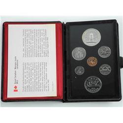 1977 RCM Specimen Coin Set Double Dollar.