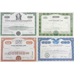 Lot (4) Common Stock Certificates.