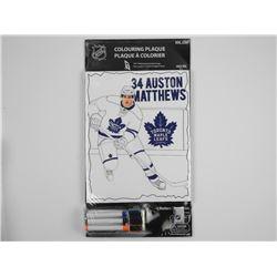 Auston Matthews. Colouring Plaque Toronto Maple Le