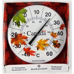 "Weatherproof 12"" Thermometer"
