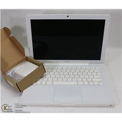 WHITE APPLE MACBOOK WITH WEBCAM