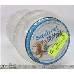 VINTAGE SQUIRREL PEANUT BUTTER JAR